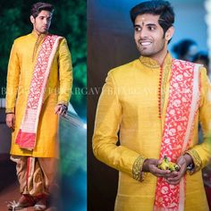 Men's wear. Wedding Outfits For Groom, Wedding Dress Men, Indian Wedding Outfits, Wedding Men, Groom Outfit, Groom Attire, Groom Dress, Men Dress, Indian Groom Wear