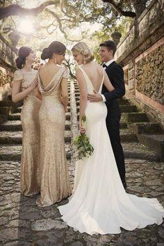 Preciosos Vestidos Metálicos para Damas de Honor por Sorella Vita - Bodas