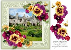 This beautiful house and garden belongs to the National Trust in Cornwall, not far from Saltash and is the perfect place to spend a day out. This 8 x 8 card topper is perfect for a quick card front or an easel card and can easily be made smaller using your printers software, for example to get two 4 x 4 toppers, select to print two sheets onto an A4 sheet This is one of a series of my Enchanted Garden card toppers and they look stunning when decoupaged. Perfect for anyone who loves…