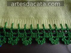 Myslíme si, že by sa vám mohli páčiť tieto piny - tonka. Crochet Motifs, Crochet Borders, Crochet Stitches, Crochet Patterns, Love Crochet, Crochet Lace, Border Design, Chrochet, Fashion Sewing