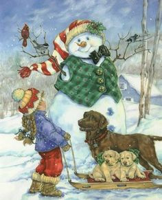 Frosty Morning Greeting by Donna Race 12x16 Art Print
