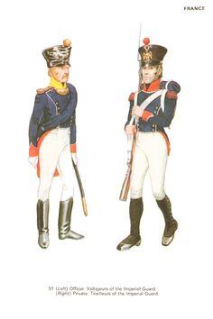 Ufficiale dei volteggiatori e Tiragliatore della guardia imperiale francese