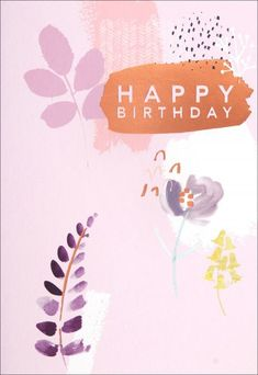 Rose Gold Birthday Card