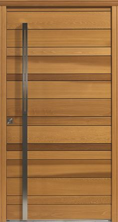 Bedroom Door Design, Main Door Design, Bedroom Doors, Modern Wood Doors, Modern Front Door, Wood Barn Door, Wooden Doors, Texture Sketchup, Door Frame Molding