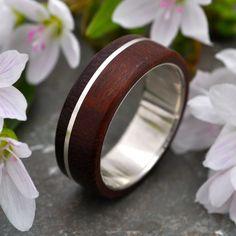 Asi Guapinol Wood Ring - sustainable wedding ring in rosewood. $220.00, via Etsy.