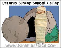 Lazarus Children's Sunday School Display from www.daniellesplace.com