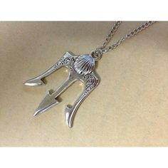 antique Silver trident Necklace Poseidon Weapons inspired ancient... ($11) ❤ liked on Polyvore featuring jewelry, necklaces, antique silver pendant, chain pendants, pendant jewelry, chain necklaces and antique silver necklace