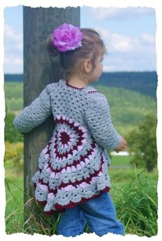 Crochet Jacket with lacy hem a