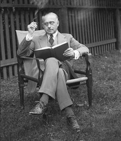 Supreme Court Justice Felix Frankfurter, widely recognized as the Supreme Court justice with the funniest name, reads.