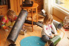 no - inspirasjon til alle som jobber med barn Blackboard paint on the tubes. Preschool At Home, Preschool Ideas, Blackboard Paint, Learning Through Play, Reggio Emilia, Blackboards, Early Childhood Education, Student Learning, Van
