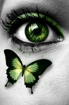 Amazing Learn To Draw Eyes Ideas. Astounding Learn To Draw Eyes Ideas. Gorgeous Eyes, Pretty Eyes, Cool Eyes, Butterfly Eyes, Butterflies, Green Butterfly, Eyes Artwork, Aesthetic Eyes, Crazy Eyes
