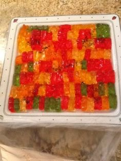 Vodka and gummy bears...for adults only...yum!