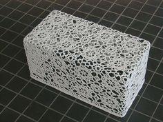 crochet rectangular basket
