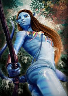 Avatar Poster Collection: Exciting Posters For The Sci-Fi Lovers! Alien Avatar, Avatar Movie, Avatar Characters, Fantasy Characters, Stephen Lang, Fantasy Warrior, Fantasy Girl, Avatar Makeup, Avatar James Cameron