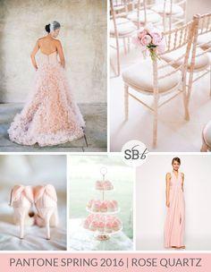 Wedding Colors 2016 - Pantone Spring 2016 Colour Palettes: Rose Quartz   SouthBound Bride   Full credits & links: http://www.southboundbride.com/pantone-spring-2016-colour-palettes-part-1