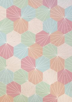 Pastel  by According To Panda. Quem sabe esse padrão bordado em sashico?
