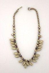 Vintage-mode Ehrlich Halskette Rosa/silber Modeschmuck Kleidung & Accessoires 835