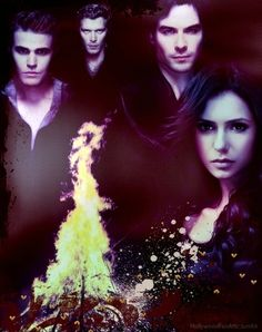 The Vampire Diaries digital art.