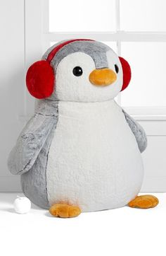 Free shipping and returns on Aurora World Toys Oversize Plush Penguin at Nordstrom.com. A supersoft penguin is all suited up for winter with bright red ear muffs. The plush toy makes a great cuddle-buddy for toddlers.