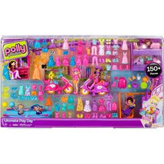 Polly Pocket Ultimate 150-Piece Gift Play Set - I know someone that is getting this for Christmas! and I'm excited because I get to play with them too!!!!!!!!!!! :)