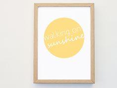 WALKING+ON+SUNSHINE+Druck+A4+von+Rietz+LIVING+auf+DaWanda.com