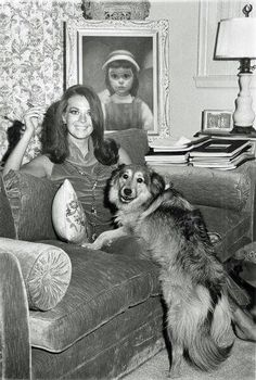 Natalie Wood and her dog