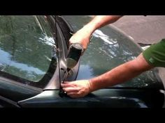 How to clean a clogged windshield drain. - YouTube