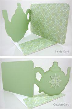 time for tea teapot card template