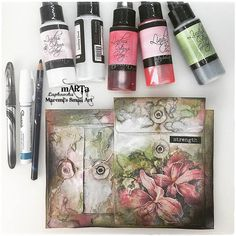 Marta Lapkowska: Art Journaling / Mixed Media For Beginners - VIDEO TUTORIALS