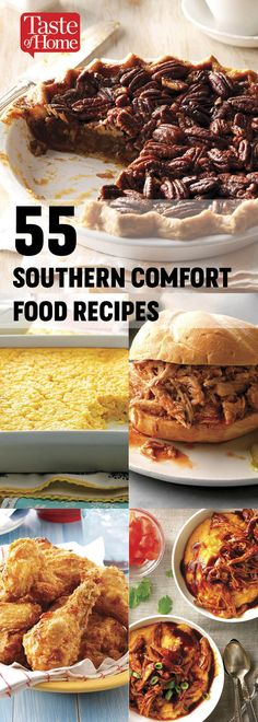 60 Iconic Southern Comfort Foods 55 Southern Comfort Food Recipes<br> Our best belly-stuffin', soul warmin' southern recipes. Think chicken-fried steak, biscuits and gravy and plenty of pie. Southern Comfort, Southern Dinner, Desert Recipes, Fall Recipes, Great Recipes, Delicious Recipes, Mexican Breakfast Recipes, Mexican Food Recipes, Healthy Comfort Food