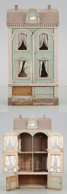 i love doll houses Barbie's maison in Cognac Miniature Houses, Miniature Dolls, Dollhouse Dolls, Dollhouse Miniatures, Antique Dollhouse, Wooden Dollhouse, Fairy Houses, Doll Houses, Antique Toys