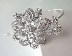 Vintage Snowflake Tiara - Silver with Rhinestones & Crystals for me, smaller snowflakes for my maids