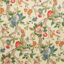 Pink/Green Print Decorator Fabric by Lee Jofa