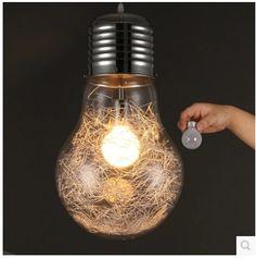 Big Bulb Pendant Light Modern Creative Restaurant Bar Glass Pendant Light Aisle Corridor Lamp Dia 15cm,22cm,30cm