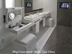 [ make up drawer ] Zen Bathroom, White Bathroom, Bathroom Interior, Modern Bathroom, Dressing Table Vanity, Dressing Room Closet, Beautiful Bathrooms, Home Interior Design, Decoration
