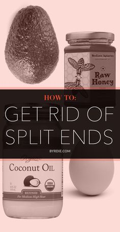 How to get rid of your split ends without cutting your hair. // #DIY