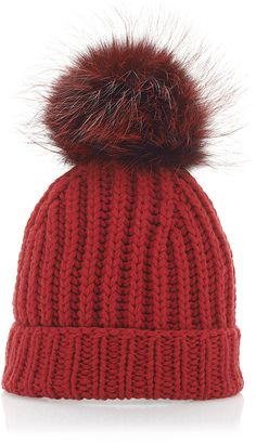 d043e6bfa4c Shop Red Cashmere and Fox Fur Beanie. From the slopes of Verbier to the  streets of New York