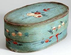 Painted Spanschachtel or Pantry Box  - Holland  1850 - 1900.