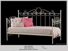Recamier,divan,choisse Long,sillon,hierro Forjado 1 Plaza - $ 4.900,00 en Mercado Libre