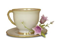 Cream and Gold Tea Cup with Pink Flower Large Transparent Clipart Decoupage, Food Clipart, Antique Tiles, My Cup Of Tea, Clips, Cream And Gold, Kitchen Art, Tea Cup Saucer, Vintage Tea