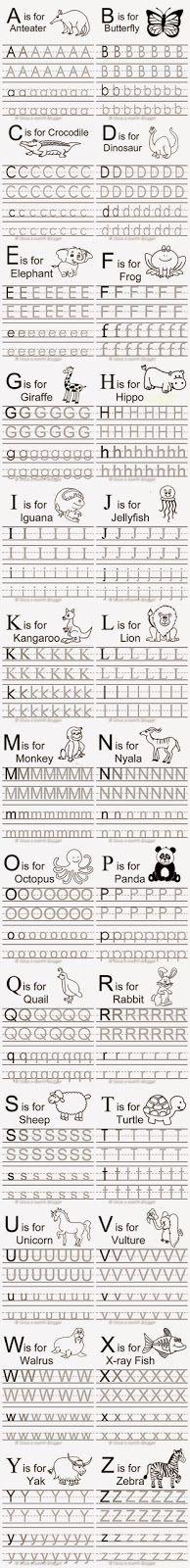 Free Animal Alphabet Traceable Letters More Preschool Letters, Letter Activities, Learning Letters, Preschool Kindergarten, Preschool Worksheets, Preschool Learning, Preschool Activities, Tracing Letters, Alphabet Letters