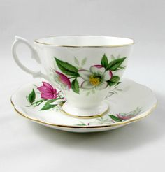 Beautiful Royal Albert Christmas tea cup and saucer. Tea cup and saucer have Christmas roses and gold trimming. Makes a great Christmas gift. In excellent condition (see photos). Markings read: Royal Albert Bone China England Please bear in mind that these are vintage items and there
