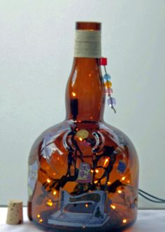 SEWING TIME Recycled Bottle Accent Lamp/LightGreat by CanDezign, $20.00