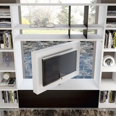 Revolving tv stand to watch tv 360 Living Room Partition Design, Living Room Divider, Room Partition Designs, Tv Wall Design, Interior Design Living Room, Living Room Designs, House Design, Apartment Layout, Apartment Design