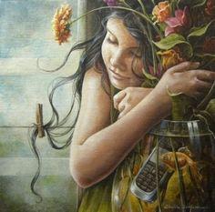 Chelìn Sanjuan ~ Magical Realism painter.. http://www.tuttartpitturasculturapoesiamusica.com/2011/03/chelin-sanjuan.html