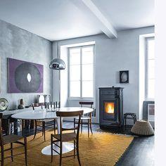 Hogar de Leña MCZ FormaT95TripleCara - Fumideco Dining Table, Iron, Warm, Sample Resume, Furniture, Interiors, Design, Home Decor, Minimal Design