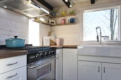 Who says you can't still have a functional kitchen while living in a tiny house? This tiny home proves you can still release your inner chef.
