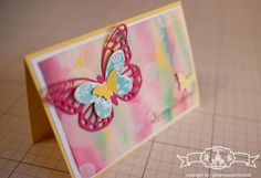 Glückwunschkarte - Stampin' Up! Bokeh Technik mit Schmetterlingsgruß