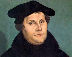 MARTÍN LUTERO (1483 - 1546.63) Teólogo alemán. Las aceradas críticas que Martín Lutero dirigió a la disipación moral de la Iglesia romana, centradas al principio en el comercio de bulas, le valieron una rápida excomunión en 1520, pero también lo convirtieron en la cabeza visible de la Reforma, movimiento religioso que rechazaba la autoridad del Papado y aspiraba a un retorno a la espiritualidad primitiva.