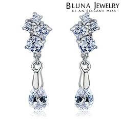 Chokushop 14 New Luxury Brincos Fashion Jewelry Drop Zircon Women Earrings Italina Long Colorful Earrings for Women Gifts -- You can find out more details at the link of the image.